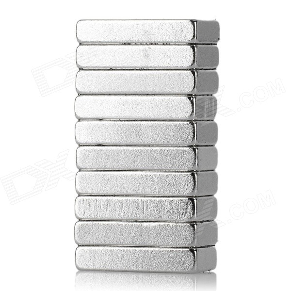 Rectangle Shaped Single Hole NdFeB Magnets - Silver (10PCS)Magnets Gadgets<br>Form  ColorSilverMaterialNdFeBQuantity1 DX.PCM.Model.AttributeModel.UnitNumber10Suitable Age Grown upsOther FeaturesHole diameter: 0.4cmPacking List10 x Magnets<br>