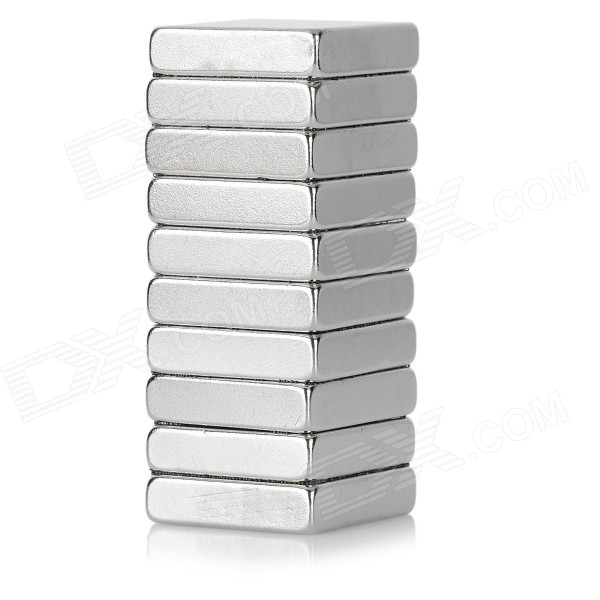 NdFeB N52 Square Magnet for Bait Tray - Silver (10PCS / 20*20 *5mm)