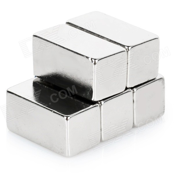Rectangle NdFeB Magnets - Silver (5PCS / 20*10*10mm)