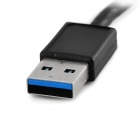 Creative Plane Shape 1-to-4 USB 3.0 Hub - Black