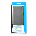 S-What Portable Dual USB 3.7V 8000mAh Li-polymer Battery Solar Power Bank - Black + Army Green