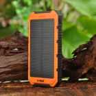 S-What Dual USB 8000mAh Solar Power Bank - Black + Orange