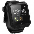 "Uwatch UTERRA1.6"" Touch Screen IP68 Waterproof Bluetooth V4.0 Smart Watch - Black"
