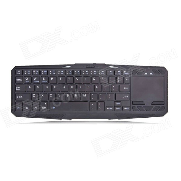 IBK-02 Bluetooth 75-Key Keyboard w/ Touch Panel + Tablet Stand - Black