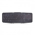 IBK-02 Wireless Bluetooth V3.0 75-Key Keyboard w/ Touch Panel + Tablet PC Stand - Black
