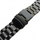 Replacement Stainless Steel Watchband for LG G Watch/Zen Watch - Black