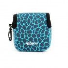 NEOpine Mini Protective Neoprene Camera Bag for GoPro 3+/4 w/ Waterproof Housing - Blue + Black