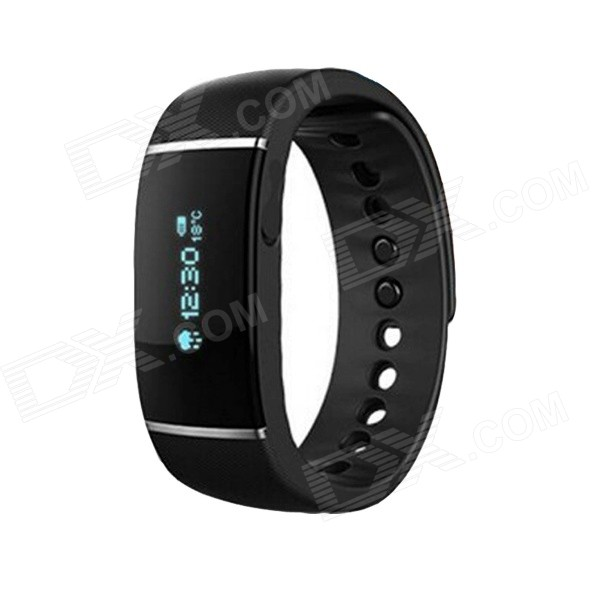 "0.91"" Bluetooth Smart Bracelet w/ Sleep & Activity Tracker - Black"