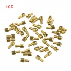 DIY M3 4+6mm Hex Brass Standoff Spacers Screw Nuts for PCB Board - Antique Brass (40 PCS)