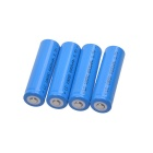 3.7V 18650 Rechargeable Lithium Ion Battery - Blue (4PCS)