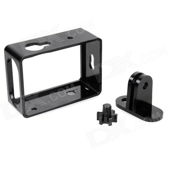 PANNOVO G-844 CNC Aluminum Protective Shell Frame Case w/ Mount for Xiaomi Xiaoyi Camera - Black