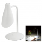 Hilamp 4W LED Touch Dimmable Table / Bedside Lamp White 5000K 70lm - White (AC 220~240V / US Plug)