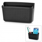 Car Organizer Gadgets Placement Box for Cell Phone / Card / Wallet - Black
