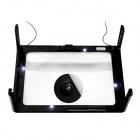 23cm Ulra-Large 3x Magnification Hands-Free 4-LED Desk Magnifier