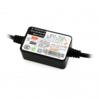 Mini USB 12 / 24V to DC 5V Voltagem Step Down Power Converter - Preto