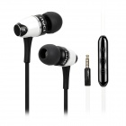 AWEI S80vi Stylish In-Ear Flat Earphones w/ Volume Control / Microphone for IPHONE - White + Black
