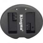 Kingma 2-Slot Battery USB Charger for Canon LP-E8,EOS 550D, 600D, 700D