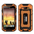 "iMAN i5800 Android 4.4 Quad-core 3G Rugged Phone w/ 4.5"" IPS HD, 8MP, 8GB ROM, WiFi, GPS - Orange"