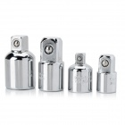 Chrome-Vanadium Steel CR-V Adapters Set for Socket Wrench - Silver