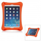Protective Silicone Back Cover Case w/ Stand for IPAD AIR 2 - Orange