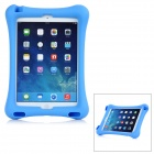 Protective Silicone Back Cover Case w/ Stand for IPAD AIR 2 - Blue
