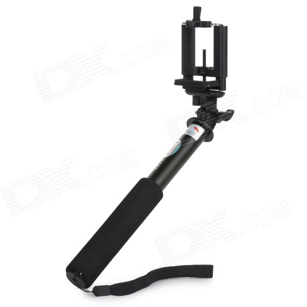S-What S168 Selfie Handheld Monopod w/ Mount for Camera, Phone - Black