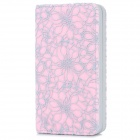 PAQ P002 Bi-Fold Side Flip-Open Clutch Wallet Purse w/ IPHONE Compartment & Magnetic Closure - Pink