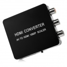 NK-M8A AV to HDMI 1080P Full HD Converter - Black
