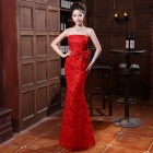 LFLA-A175 Women's Auspicious Charming Wedding Banquet Dress - Red (XL)