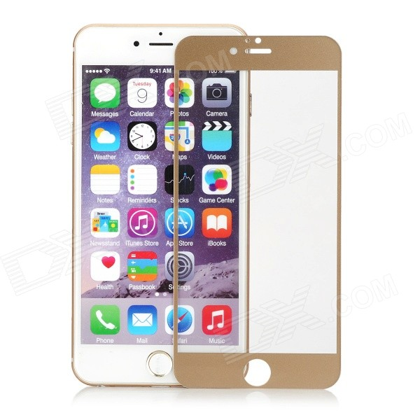 Mini Smile 0.3mm Tempered Glass Film for IPHONE 6 PLUS - Golden