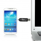 D-332 Micro USB 2.0 OTG + TF Card Reader for Samsung S3 + More - Black