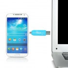 D-332 Micro USB 2.0 OTG + TF Card Reader for Samsung S3 + More - Blue