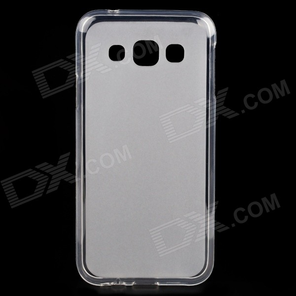 low priced 5d13a 1863d Ultra-thin Protective TPU Matte Back Cover Case for Samsung Galaxy E5 -  Translucent White