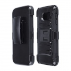 Hybrid 2-in-1 Protective PC Case w/ Stand for Samsung Galaxy S6 - Black