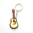 MG-57B Colorful Guitar-Shaped Pendant Silicone Keychain - Black + Red