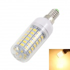 KINFIRE E14 12W LED Corn Lamp Warm White 3500K 960lm SMD 5730 - White + Silver (AC 220 ~ 240V)