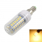 KINFIRE E14 9W LED Corn Lamp Warm White 3500K 720lm SMD 5730 - White + Silver (AC 220~240V)