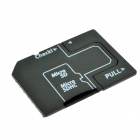 Micro SD / TF to SD Card Adapter / USB Card Reader for Digital Cameras - Black