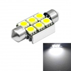 JIAWEN Festoon 36mm 1.5W 150lm 6000-6500 K 6 x 5050 SMD blanco LED bombilla (12V DC)