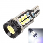 MZ T15 8W 350lm 6000K 1*COB + 24*2835 SMD LED White Decoded Clearance Lamp / Backup Light (12~15V)