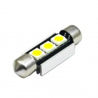 JIAWEN Festoon 36mm 0.5W 6500K 70lm SMD 5050 White Lamp (DC 12V)