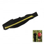 Oushine Outdoor Zipper Elastic Fiber Belt Portable Mobile Phone Bag for IPHONE - Black + Yellow