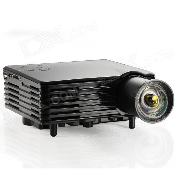 Mo mat gp9s 1080p led mini home projector w hdmi vag av for Mini usb projector for mobile