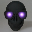 DC 5V Skull Style 8800mAh Li-ion Battery Magic Power Bank w/ LED Indicator - Matte Black