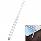 Universal Aluminum Alloy + Conductive Fabric Stylus for Touch Screen Cellphone / Tablet PC - Silver