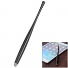 Universal Aluminum Alloy + Conductive Fabric Stylus for Touch Screen Cellphone / Tablet PC - Black