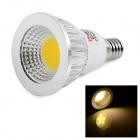 LeXing Lighting E14 3W COB LED Spotlight Warm White 3500K 180lm - White + Silver (AC 85~265V)