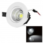 LeXing Lighting 5W LED Ceiling Light White 6500K 350lm COB - White + Black (AC 85~265V)