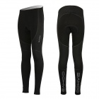 SAHOO Outdoor Cycling Fleece + Lycra Long Pants for Men - Black (M)