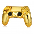 Protective Cases + Joystick Caps + Keys for PS4 Controller - Golden